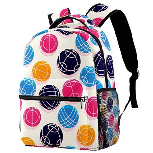 School Classic Rucksack Leichter Reiserucksack Laptop Tagesrucksack für Frauen Teenager Männer Boccia