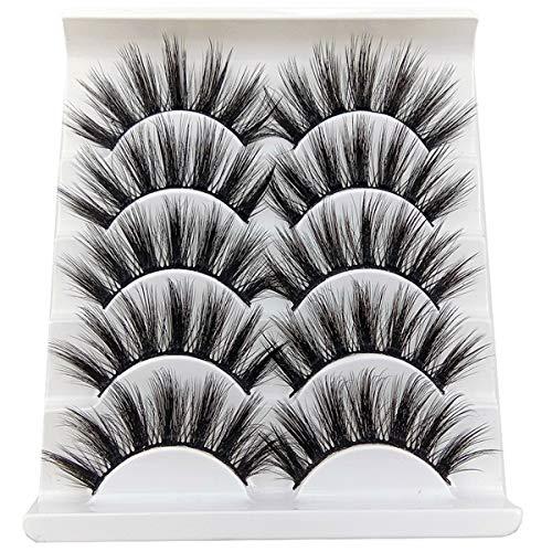 3D MINK gefälschte Wimpern Make-up handgefertigte falsche Wimpern schwarz Natur 27MM lang weich wiederverwendbar