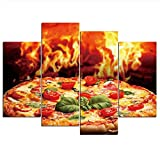 HOMEDCR Leinwand Malerei Lebensmittel Pizza Poster
