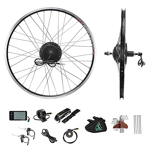 YOSE POWER 28'' E-bike Conversion Kit Rear Wheel Motor Cassette 36V350W with 36V12.5Ah 481Wh Electric Bicycle Lithium-ion Battery included …