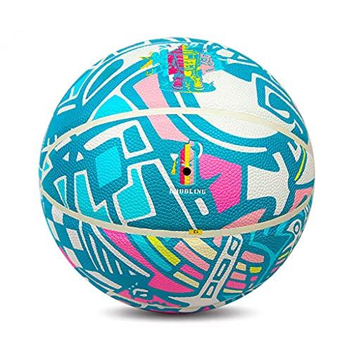 YCX Material De PU Interiores Y Exteriores Baloncesto Resistente Al Frío Resistente Al Desgaste Y Absorbente De Humedad Tamaño 7 Pelota Estudiante PU Street Trend Graffiti Basketbal