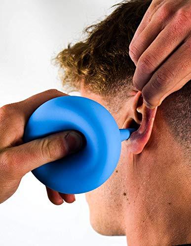 AVAURA® oorreiniger 200 ml - incl. e-book voor optimale verwijdering van oorsmeer - medische oorspuit voor kinderen en volwassenen 200ml Pastelblau