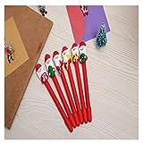 QLRL 4 Frohes Neues Jahr Weihnachten Kugelschreiber Santa Stroh Weihnachtsdekoration Kindergeschenke