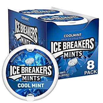 ICE BREAKERS Coolmint Sugar Free Breath Mints 1.5 oz Tins  8 Count