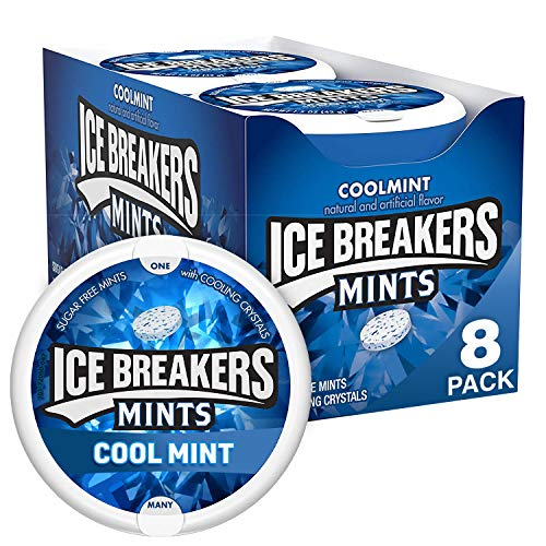 ICE BREAKERS Coolmint Sugar Free Breath Mints, 1.5 oz Tins (8 Count)