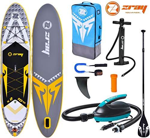 Zray X-Rider X2 10.10 SUP Board Stand Up Paddle Surf-Board 330cm mit 12V E-PUMPE
