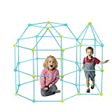 CREPRO Fort Building kit for Kids, 120 Pieces Ultimate Forts Builder Gift Kid Construction Toys for Boys and Girls to DIY Building Castles Tunnels Play Tent Rocket Tower Indoor Outdoor