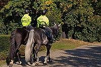 新しいJSCTWCLジグソーパズル大人のための1000個-馬に乗った警官-エンターテインメント木製パズルおもちゃ
