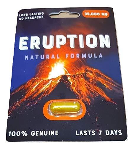 3 Pack Eruption 35000 Natural Formula Eruption - Male Enhancement Pills for Men - Excellent Male Enhancement Powerful TIME Size Stamina 35K