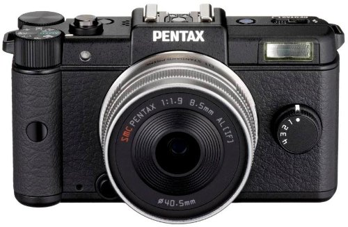 Pentax Q Systemkamera (12 Megapixel, 7,5 cm (3 Zoll) Display, Full HD Video, bildstabilisiert) Kit inkl. 47mm und 28-83mm Objektiv schwarz