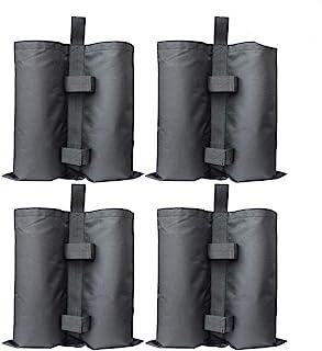 RIOGOO Paquet de 4 Poids de Sable Gazebo, Poids Lourd, qualité Industrielle, Poids Lourd, Poids pour Les Jambes, Poids pour Jambes, tentes Pare-Soleil, Parasol