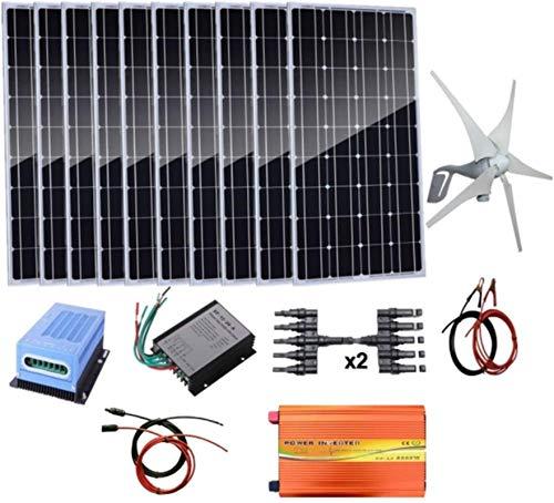 Turbina eólica 1,4 kW Energía Eólica Solar: turbina de viento 400W Generador...
