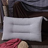 LACMY Pillow Washed Cotton Feather Samtkissen Cotton Adult Soft Pillow Faserkissen Student Single...