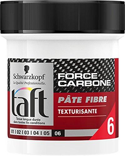 Schwarzkopf - Taft - Pate Cheveux Fibre Texturisant - Force Carbone - Pot de 130 ml