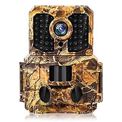 24MP Trail Camera ,Game Camera with IR Night Vision 120° Wide Angle Motion Latest Sensor View 0.2s Trigger Time, IP65 Waterproof Camera for Wildlife Monitoring and Home Security