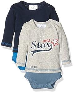 Twins Body Little Star Body Bebé Pack de 2 Azul (marine 3011) 3-4 meses (Talla del fabricante: 56)