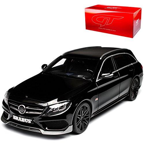 GT Spirit Mercedes-Benz C-Klasse C63 S AMG Bra-Bus B25 Kombi S205 Schwarz Ab 2014 Nr 180 1/18 Modell Auto mit individiuellem Wunschkennzeichen