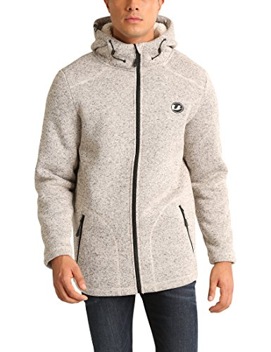 Ultrasport Ted, Giacca in Maglia E Pile Uomo, Beige, X-Large