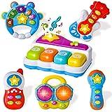 JOYIN 6 PCS Toddler Sensory Educational Musical Instrument Toys for Toddler Boys and Girls