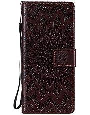 Lederen portemonnee case voor Sony Xperia L4 Case Telefoonhoes vouwen Flip Case met Kickstand Card Slots Magnetische sluiting beschermhoes voor Sony Xperia L4 - XIKAT030530 Bruin