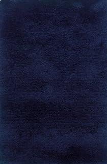 Moretti Bella Shag Area Rug 81106 Blue Solid Shag 5' x 7' Rectangle