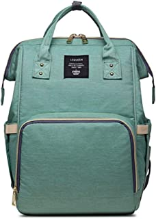 Fashion Brand Mummy Maternity Nappy Bag Large Capacity Baby Bag Travel Backpack Designer Nursing Bag for Baby Care! (Reseda) …