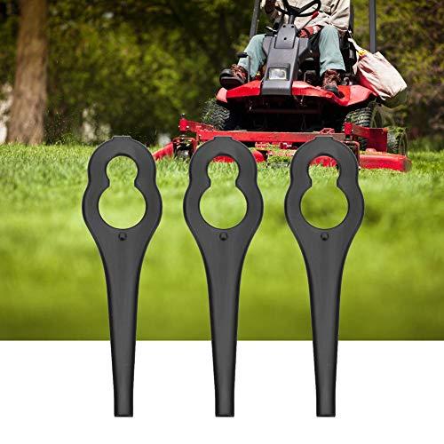 50 PCS Lawn Mower Blade,Plastic Grass Trimmer Blades Lawn Mower Parts for BOSCH ALM 28 30(Black)