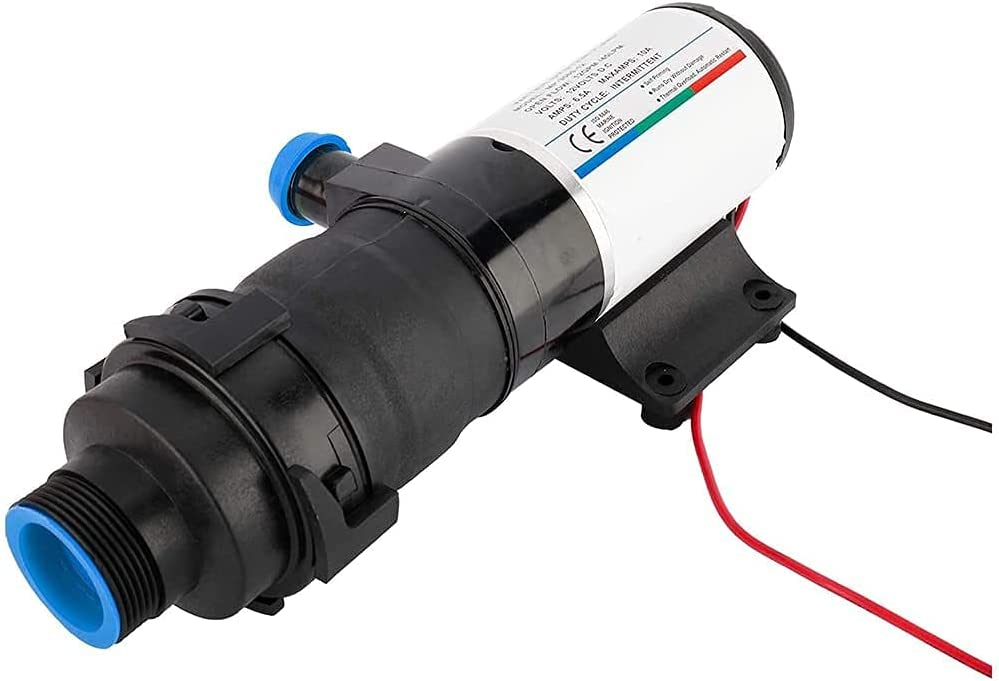 RLOZUI Limited Special Price 12V Self-priming Waste Water Industry No. 1 RV Pump Discharge 12GPM Moun