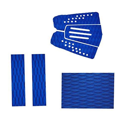 MagiDeal 6 Piezas Almohadilla de Tracción de Cola Agarre de Cubierta EVA con Ranura para Tabla de Surf - Azul