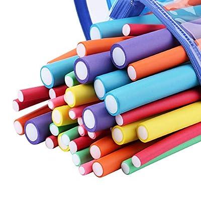 Minerva 42-pack 7'' Twist-flex Foam Hair Roller Curling Rods- Hair Curlers Rollers for Short, Medium and Long Hair