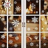 DURINM 248 Pcs Pegatinas Navidad para Ventanas Decoracion De Navidad Pegatinas Ventana Navidad Adornos De Navidad para Escaparates De La Ventana Extraíble PVC Pegatinas