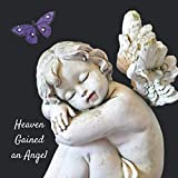 Heaven Gained an Angel: Funeral Guest Book (Cherub Angel Picture) for Memorial Services and Condolence Messages. Registry Sign in Book with Name, Address Line, Email, Phone, Comments