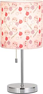 HAITRAL Nightstand Table Lamp -Small Beside Lamp for Bedroom, Home Decor Desk Lamp with Fabric Lamp Shade -Printed with Bear Pattern (HT-ATL10-PB)