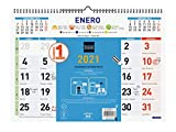 Finocam - Calendario de pared 2021 Mixto Color Español