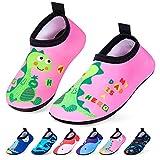 RJVW Kids Boys Girls Swim Water Shoes, Toddler Kids Swim Water Shoes Non-Slip Quick Dry Beach Shoes,Barefoot Sports Shoes Aqua Socks for Beach Outdoor Sports