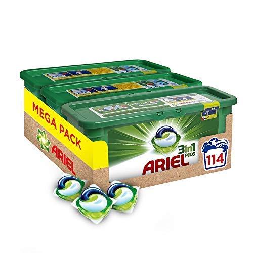 Ariel 3-In-1 Pods Detergente En Capsulas - 114 Lavados (3 X 38)