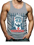 Donald Trump Tank Murica 4th of July Patriotic American Party USA Singlet Large Gray