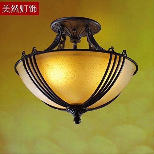 BRIGHTLLT Plafonnier LED rétro Simple fer en Europe continentale américaine américaine Chambre Étude Aisle américaine, 420 * H330mm