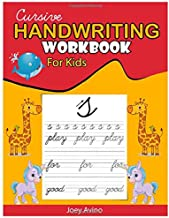Cursive Handwriting Workbook for Kids: 3-in-1 Writing Practice Book to Master Letters, Words & Sentences.Cursive for beginners workbook. Cursive letter tracing book