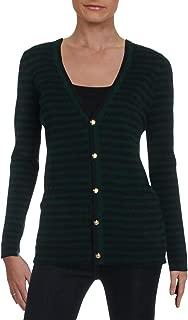 Womens Anneka Cashmere Striped Cardigan Sweater