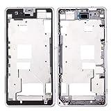 Zhangli Sony Repuesto Mini Tapa Frontal LCD Marco Bisel for Sony Xperia Z1 Compact Sony Repuesto (Color : Blanco)
