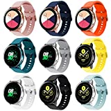 Onedream Correa Compatible con Samsung Galaxy Watch Active/Active 2 44mm 40mm Pulsera Silicona Mujer Hombre, Repuesto Compatible con Samsung Galaxy Watch 42mm/ Galaxy Watch 3 41mm, 9 Colores