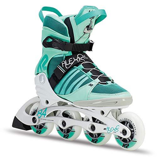 K2 Skates Damen ALEXIS 84 PRO Inline Skates, WeißGrünSchwarz, 34 EU