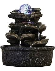 Zen'Light Little Rock fontän av polyharts, mörkbrun, 20 x 20 x 23 cm