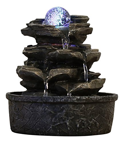 Zen'Light Little-Rock - Fuente de polirresina de Color marr