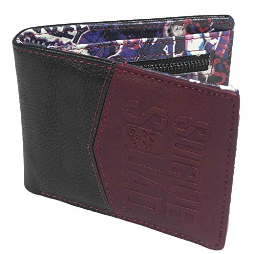 Oficialmente con Licencia DC Comics realzado Suicidio Escuadrón Logo Bi-Fold Wallet