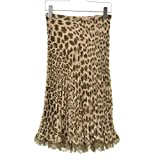(ストロベリーフィールズ) STRAWBERRY-FIELDS レオパード柄シフォンプリーツ スカート