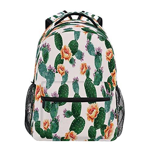 Mochila para niños y niñas, floral verano tropical cactus, suculentas, mochilas escolares para niños en edad preescolar, jardín de infantes, elemental con correas acolchadas ajustables