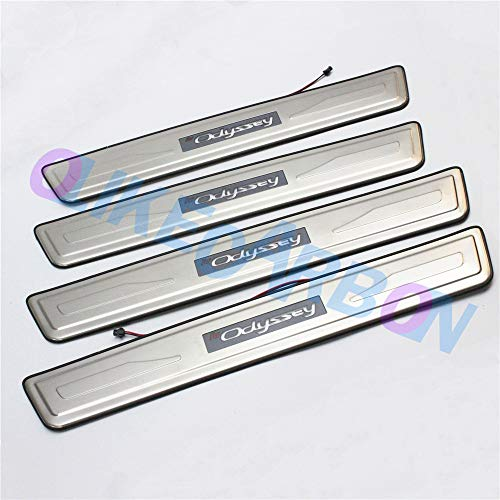 OLIKE for Honda Odyssey 2005-2010 Led Door Sill Scuff Plate Guard Sills Protector Trim