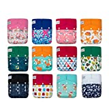 KaWaii Baby One Size Heavy Duty HD3 Pocket Cloth Diapers for Girl - Pack of 12.